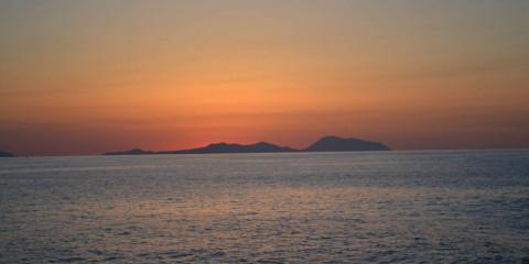 Spettacolo di delfini al largo delle isole eolie