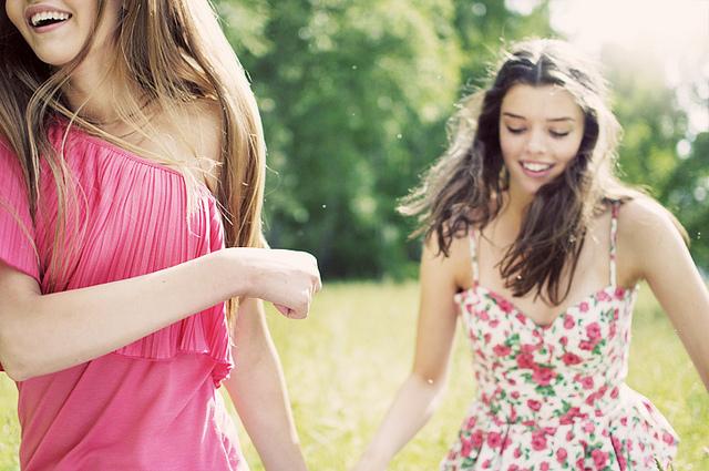 ragazze felici