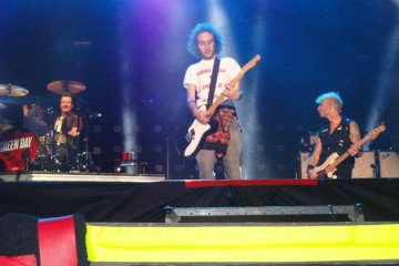suonare sul palco con i green day davide