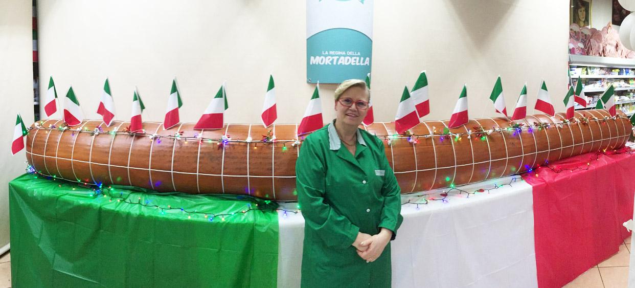 Mortadella gigante Reggio Calabria IAMU